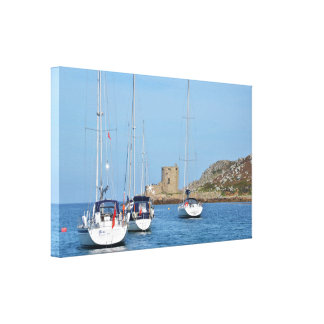 Yachts Moored Off Cromwell's Castle Canvas Print
