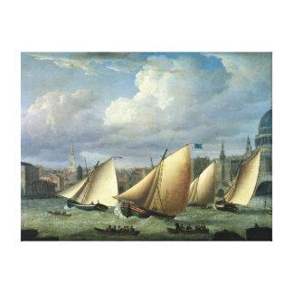 Yachts of the Cumberland Fleet starting Canvas Print