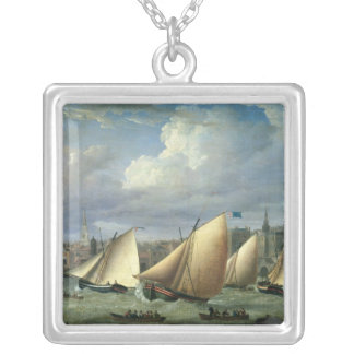Yachts of the Cumberland Fleet starting Silver Plated Necklace