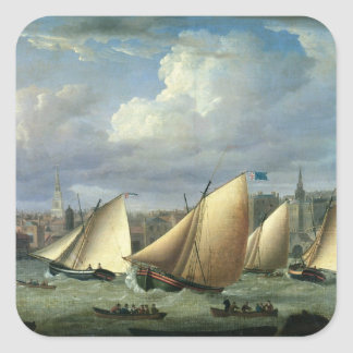 Yachts of the Cumberland Fleet starting Square Sticker
