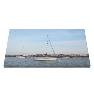 Yachts On The River Crouch Stretched Canvas Prints