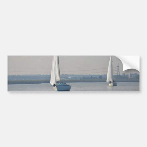 Yachts Racing In Light Airs Bumper Stickers