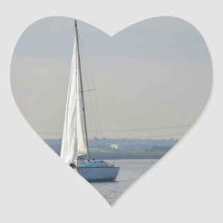 Yachts Racing In Light Airs Heart Sticker