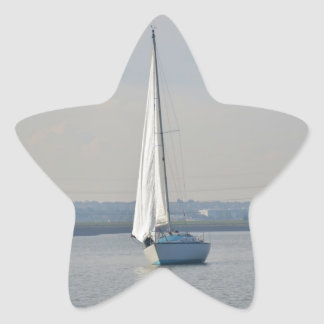 Yachts Racing In Light Airs Star Sticker