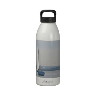 Yachts Racing In Light Airs Drinking Bottle