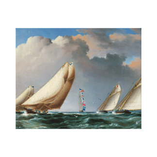 Yachts Rounding The Mark Canvas Print