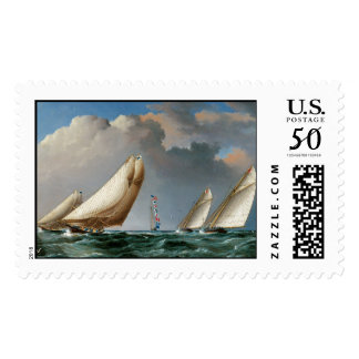 Yachts Rounding the Mark Postage
