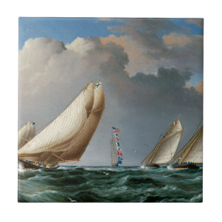 Yachts Rounding the Mark Tile