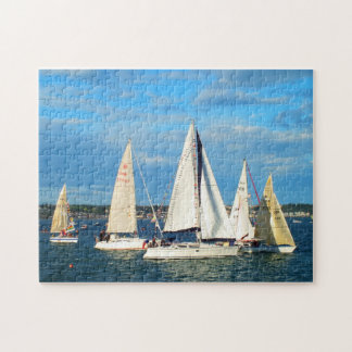 Yachts sailing in Jersey Jigsaw Puzzle
