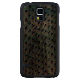 Yachts Waves Background Pattern Carved® Walnut Galaxy S5 Case