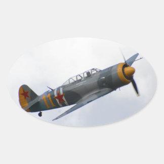 Yacs 11 calcomanía de óval