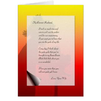 Yacs divertidos de Yada de la letra de amor del Tarjeta De Felicitación