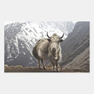 Yacs en Nepal Pegatina Rectangular