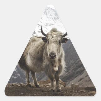 Yacs en Nepal Pegatina Triangular