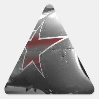 Yacs rojos 52 de la estrella pegatina triangular