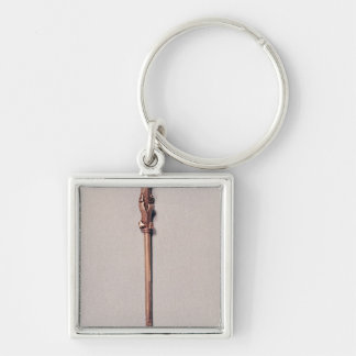 Yad Silver-Colored Square Keychain
