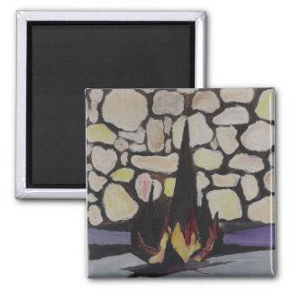 Yad Vashem 2 Inch Square Magnet