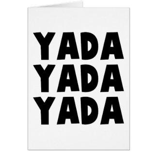 Yada Yada Card