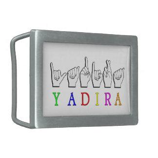 YADIRA  FINGERSPELLED NAME RECTANGULAR BELT BUCKLES