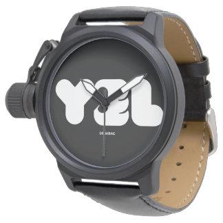 YAEL NAME / Mens Black Watch Relojes De Pulsera