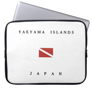 Yaeyama Islands Japan Scuba Dive Flag Computer Sleeve