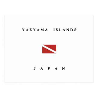 Yaeyama Islands Japan Scuba Dive Flag Postcard