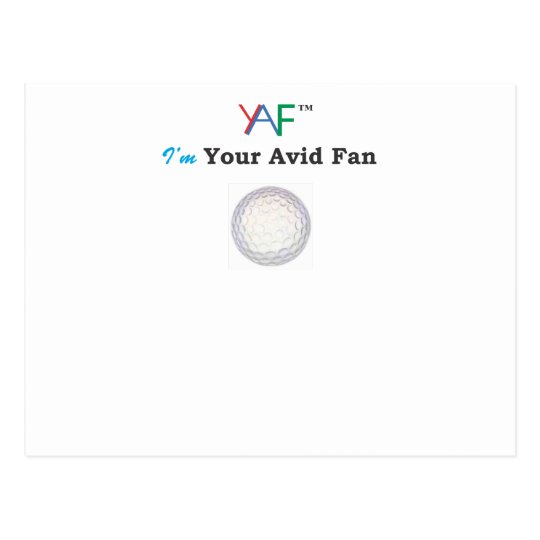 YAF Golf Postcard