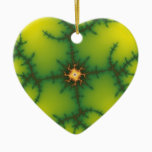 Yag Beam Fractal Art Ceramic Ornament