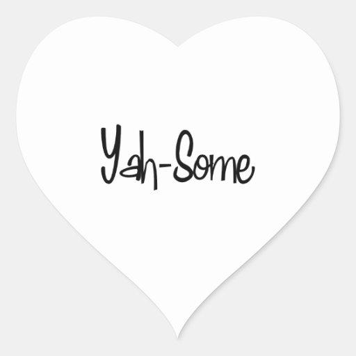 Yah-Algún Calcomania De Corazon Personalizadas