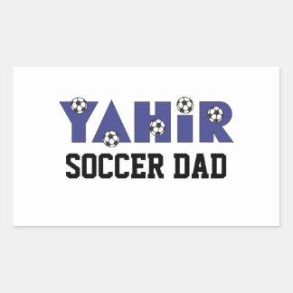 Yahir en azul del fútbol rectangular altavoces