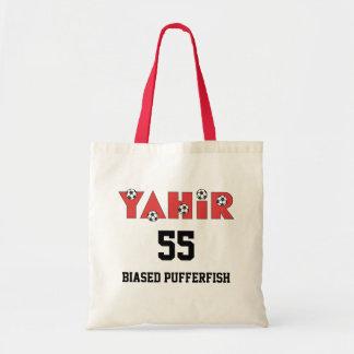 Yahir en rojo del fútbol bolsas