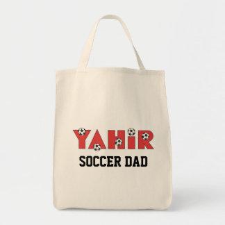 Yahir en rojo del fútbol bolsa de mano