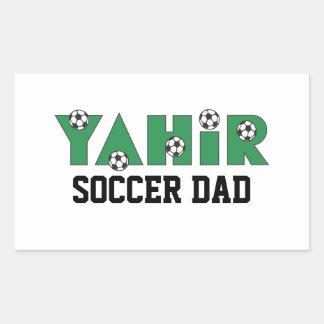 Yahir en verde del fútbol rectangular altavoz