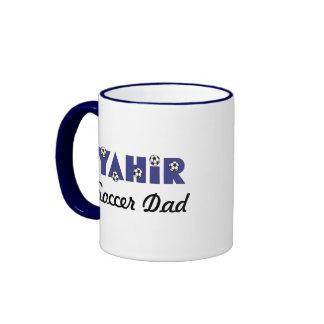 Yahir in Soccer Blue Ringer Coffee Mug