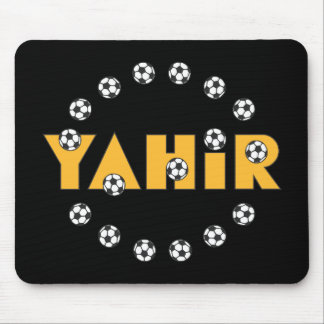 Yahir in Soccer Gold Mouse Pad