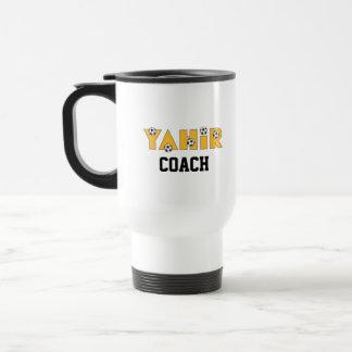 Yahir in Soccer Gold 15 Oz Stainless Steel Travel Mug
