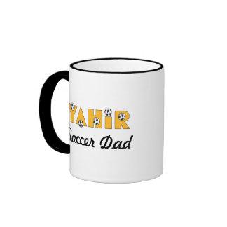 Yahir in Soccer Gold Ringer Coffee Mug