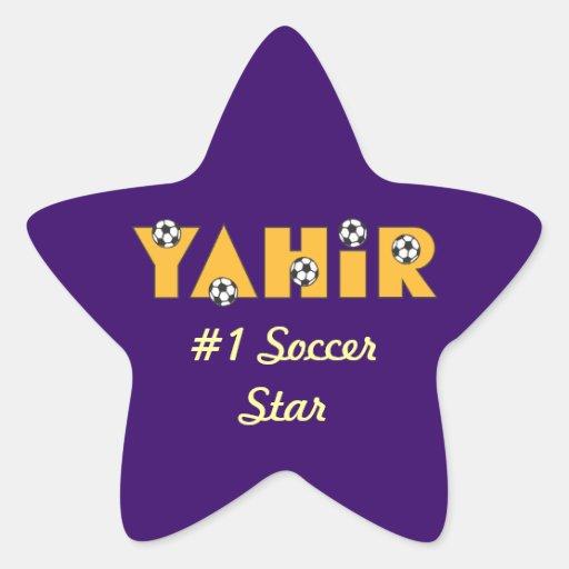 Yahir in Soccer Gold Star Sticker