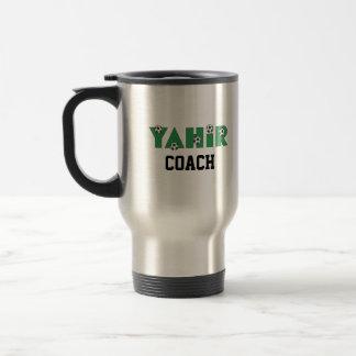 Yahir in Soccer Green 15 Oz Stainless Steel Travel Mug