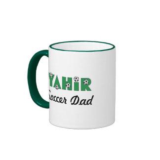 Yahir in Soccer Green Ringer Coffee Mug