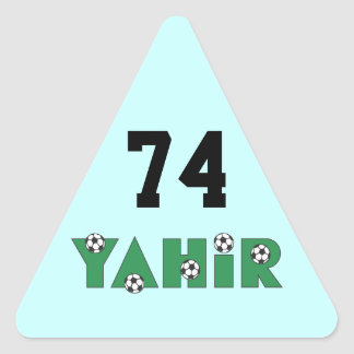 Yahir in Soccer Green Triangle Sticker