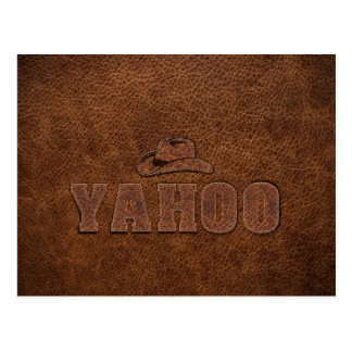 YAHOO western style Postcard
