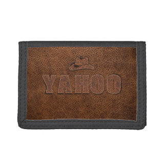 YAHOO western style Trifold Wallet