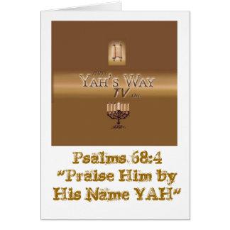 Yah's Way Card