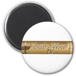 Yahs Way TV Fridge Magnet