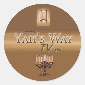 Yah's Way TV Sticker