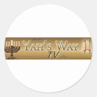 Yahs Way TV Round Stickers