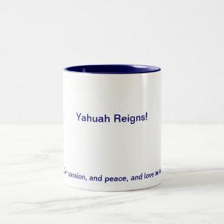 Yahuah Regins Mug! ( : Two-Tone Coffee Mug