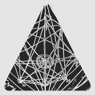 yaie alchemical transmutation art triangle sticker