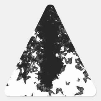 yaie black butterflies triangle sticker